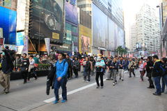 2014 against government marches in Hong Kong Stock Photo