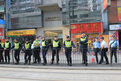 2014 against government marches in Hong Kong Stock Photography