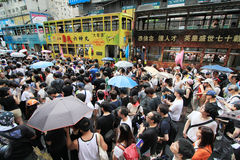 2012 Against government marches in hong kong Stock Image