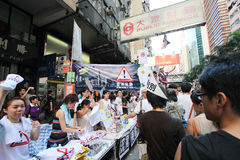 Against government marches in hong kong 2012 Royalty Free Stock Image