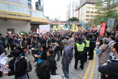 2013 Against government marches in hong kong Stock Photo