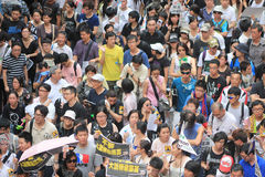 2012 against government marches in hong kong Royalty Free Stock Image