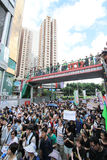 2012 against government marches in hong kong Royalty Free Stock Photography