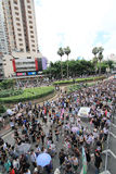 Against government marches in hong kong 2012 Stock Photos