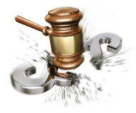 Against the law. 3D rendering of a broken paragraph Stock Image