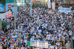 Against National Education in Hong Kong Stock Image