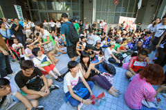Against National Education in Hong Kong Royalty Free Stock Photos