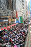 2012 Against National Education in Hong Kong Royalty Free Stock Image