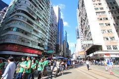 2012 Against National Education in Hong Kong Stock Photography