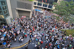 2012 Against National Education in Hong Kong Royalty Free Stock Photography