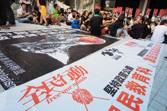 Against National Education in Hong Kong Stock Photography