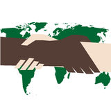 Against racism. Vector illustration of handshake against racism Stock Photo