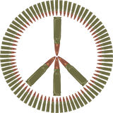 Against the war - peace symbol Stock Images