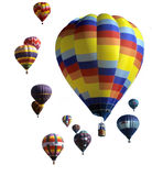 agaisnt气球蓝色热天空 免版税图库摄影
