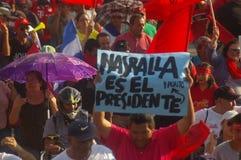 Agaist Juan Orlando numéro 19 de march de protestation de Hernandez le 12 janvier 2018 Photos stock