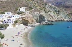 agali海滩folegandros 免版税库存图片