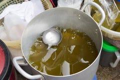 Agar galareta Wietnamski wiejski jedzenie w wsi Obrazy Stock