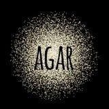 Agar powder vector illustration Royalty Free Stock Photography