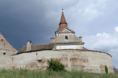Agarbiciu fortified church Royalty Free Stock Photos