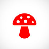 Agaric mushroom vector icon. Illustration Royalty Free Stock Photography