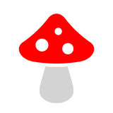 Agaric mushroom vector icon. Illustration isolated on white background Royalty Free Stock Image