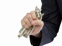 Agarrando algum dinheiro Fotografia de Stock