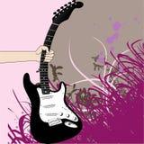 Agarre a guitarra ilustração royalty free