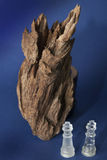 Agarwood on abstract blue background Stock Photo