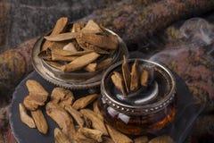 Agarwood incense Stock Photos