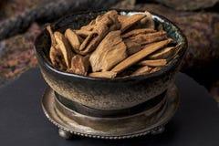 Agarwood incense Stock Image