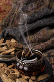 Agarwood incense Stock Photography