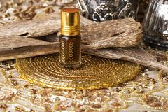 Agarwood istotny olej Obraz Royalty Free