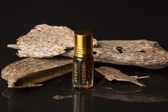 Agarwood kadzidła i oleju układy scaleni Zdjęcia Royalty Free