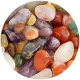 Agatów gemstones mixuture w okręgu Zdjęcia Stock