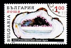 Agat, Bułgarski kopaliny seria około 1995, Obraz Stock