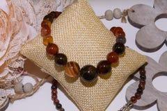 Agat kolii naturalny kamień zdjęcia stock