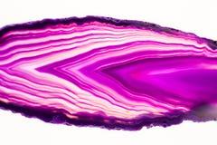 Agat piękny, kolorowi plasterki Obrazy Royalty Free