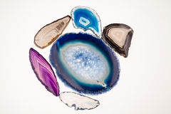 Agat piękny, kolorowi plasterki Obraz Stock