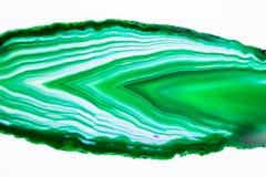 Agat piękny, kolorowi plasterki Zdjęcia Stock