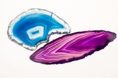 Agat piękny, kolorowi plasterki Obrazy Stock