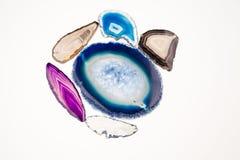 Agat piękny, kolorowi plasterki Zdjęcie Stock