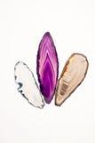Agat piękny, kolorowi plasterki Zdjęcie Royalty Free