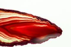 Agat piękny, kolorowy plasterek Zdjęcie Stock
