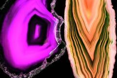 Agat piękny, kolorowy plasterek Zdjęcia Royalty Free