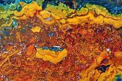 Agat z naturalnymi kolorami Obraz Stock