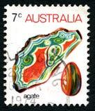 Agata australijczyka znaczek pocztowy Zdjęcie Stock
