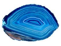 Agata blu Fotografie Stock