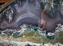 Agata cennego kamienia powierzchni zbliżenie Obrazy Royalty Free