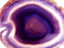 Agata con il cristallo geologico del chalcedony Immagini Stock