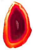 Agata con il cristallo geologico del chalcedony Fotografie Stock Libere da Diritti